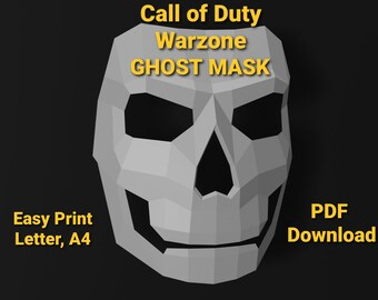 Call Of Duty Ghost Mask Etsy