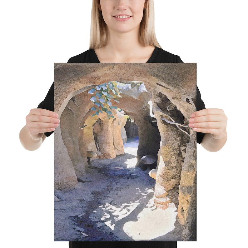 Pathways Wraparound Canvas Shipping Included Tunnel at Albuquerque\u2019s BioPark in Beige /& Black Museum Wall Art Canvas