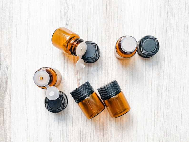 1/4 Dram Essential Oil Bottle SET OF 5  Sample Essential Oil image 0