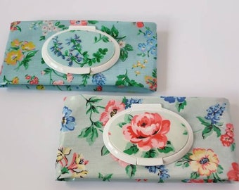 Cath Kidston Oilcloth Baby wipes case / Baby wipes holder / Oilcloth case / Baby bag/ Baby changing /Gift for new mum
