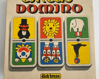 Vintage Circus Domino by Dick Bruna (Miffy's creator) 1970's