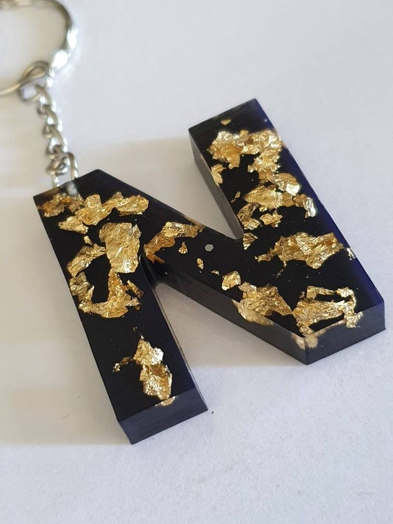 Black and Gold Leaf Resin Bookmark !