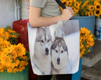 Husky Lover Gift Siberian Husky Owner Gifts Co worker Office Gifts Cool Husky Tote Bag