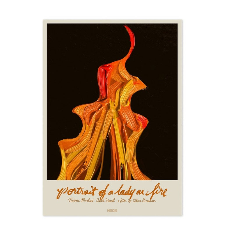 Portrait of a Lady on Fire Poster Print on Silk Fabric Home Decor Unframed