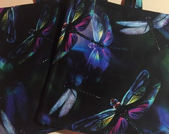 Microwave Bowl Cozy 3 piece set butterflies dragonflies
