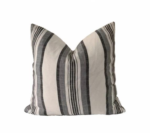 PAXON || Linen Stripe Pillow Cover | Boho Pillow | Modern Farmhouse | Marigold Interiors