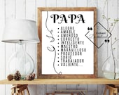 Spanish Quote Papa, Dad Gifts From Kids, Dad gifts from son, Spanish Quote Father's Day, Papa Es Spanish Art, Instant Downloads ↓↓↓