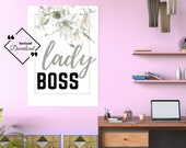 Typography Office Quote, Lady Boss Printable, Typography Wall Art for your affordable Office Décor. Instant Download, Get Yours Today! ↓↓↓