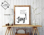 Faith Inspirational | Book of Mormon Quote | That They Might Have Joy | 2 Nephi 2:25 | Office Décor | Last Minute Gift | Instant Downloads ↓