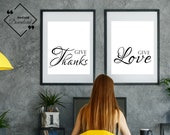 Girl Boss Print | Give Love & Give Thanks | Frame For Office| Affordable Art Print | Girly Room Art | Girly Office Décor | Instant Downloads