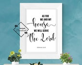 Bible Wall Hangings for décor house. As for me and my house, Bible Verse Printable Joshua 24:15. Instant Downloads, Get Yours Now ↓↓↓