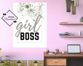 Office Quote Prints, Girl Boss Printable Typography Wall Art for your affordable Office Décor. Instant Download, Get Yours Today! ↓↓↓