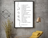 Spanish Quote Print, 1 Corinthians 13 4–8, Amor Poster, Spanish Print, Spanish Art, Amor Pared Arte, Spanish Bible Art | Instant Downloads ↓