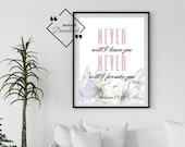 Bible Wall Hangings Printable Artwork for Your Home or Office to décor, Hebrews 13:5. Scripture Printable, Download Yours Today! ↓↓↓