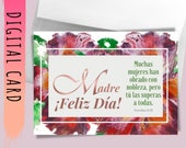 """Printable Madre Card """"Día de Las Madres"""" Spanish Bible Verse Cards for Madre Proverbs 31. Downloadable Cards Print Yours Self Today↓↓↓"""