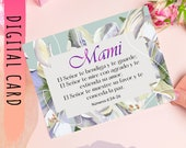 Mothers Day Spanish Card With Bible Verse Numeros 6-24-26. Printable Greeting Card Gift For Mother's Day, Download Print Yours Self Today↓↓↓
