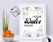 Hogar Dulce Hogar, Printable Wall Art, Printable Quote, Wall Décor Art, Spanish Prints, Spanish Printable Quote, Instant Download, ↓↓↓