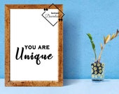You Are Unique Valentine Printable Posters | Valentine's Last Minute Gift for Him & Her Digital File | Click To Download, Get Yours Now↓↓↓
