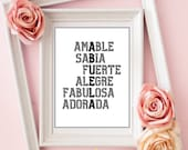 Abuela Gifts, Spanish Abuela Printable, Regalo Abuela, Dia de la Madre, Instant Printable download, Mother Day Gifts, Download Yours Today↓↓