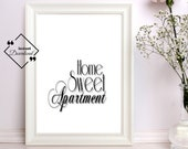 Home Sweet Apartment Poster, Home Sweet Apartment Printable, Apartment Décor, Wall Art, Printable Wall Art, Last Minute Gift, Get Yours Now↓