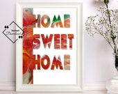 Home Sweet Home Poster | Scripture Art Print | Room Décor Gift | Bedroom Décor Couple | Scripture Art Print | Instant downloads↓↓↓