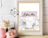 Bible Verse Printable Artwork for Your Home or Office to décor, Ephesians 2:10. I Am His Masterpiece. Download Yours Today! ↓↓↓