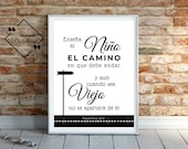 Instant Download, Father's Day Art, Proverbios 22, Gift for Dad Spanish, Spanish Abuelo, Feliz Dia del Padre, Latino, Regalo Papa Imprimible