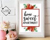 Home Sweet Apartment Poster | Scripture Art Print | Room Décor Gift | Bedroom Décor Couple | Scripture Art Print | Instant downloads↓↓↓