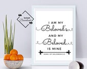 Love quotes husband, I Am My Beloved's, Song Of Solomon 6:3, Bible Verse Printable, Wedding Décor, Anniversary Gift, Click For Detail ↓↓↓