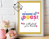 Dog Printable Art, Inspirational Quote Print, Typography Poster, Dog Lover Gift Idea, Home Wall Art Décor. Downloads Yours Today! ↓↓↓