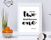 Last Minute Valentines Gift, Last Minute Gift For Him Her, And the Two Shall Become One, Ephesians 5:31 Click to Download, Get Yours Now ↓↓↓
