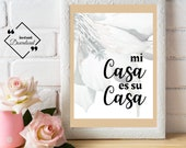 Mi Casa Es Su Casa Print | Scandi Print | Gift for Boyfriend Girlfriend Friend | Housewarming Gift | Wedding Gift | Moving In Present