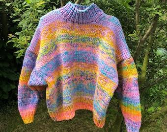 Hand Knitting Pattern -The Jupiter Jumper