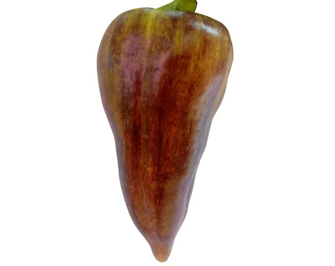 Violet Sparkle Sweet Pepper - Heirloom 10 seeds