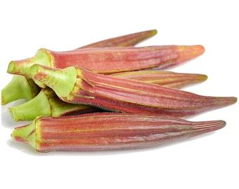 Jing Orange Okra - Heirloom 30 seeds