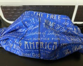 Blue American Phrases Face mask