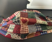 Heart Quilt pattern face mask