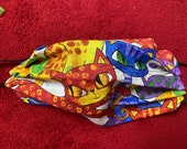 Colorful cat face mask