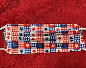 Patriotic Star Quilt Face Mask