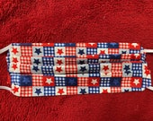 Patriot Star Quilt Face Mask