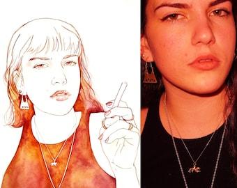 Unique watercolor portrait after photo/original gift/original painting/tailored portrait/watercolor painting/portrait