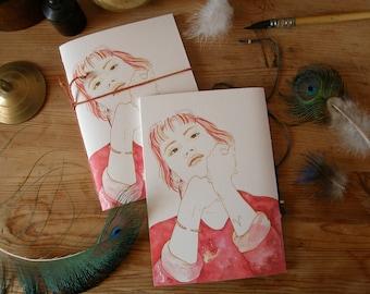 hand-connected notebook A6 - 10x15 cm / astrological signs / celestial / zodiac / sacred feminine / handmade notebook / cosmos