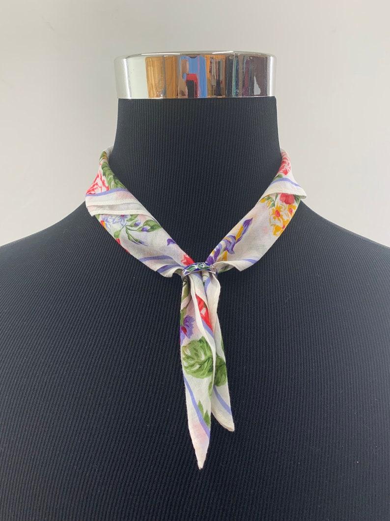 Kenzo Neckerchief Handkerchief Bandana Babushka Wrap Authentic Accessories Luxury Gift Pocket square