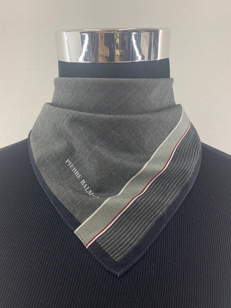Pierre Balmain Neckerchief Handkerchief Bandana Babushka Wrap Authentic Accessories Luxury Neckwear Gift Pocket square