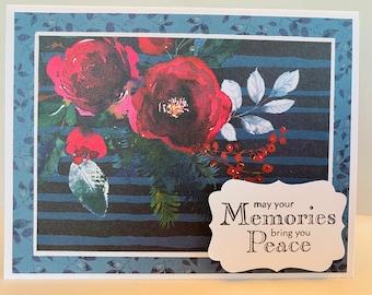 Carolescardshop Handmade greeting card Thank you stampin up pink floral
