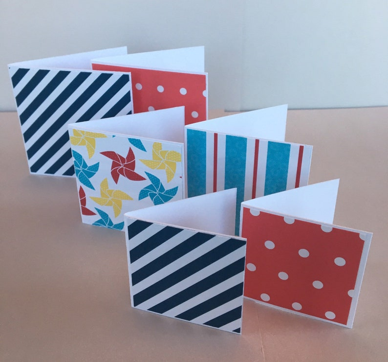 variety pack,tags notecards- 6- festive colors gift giving carolescardshop