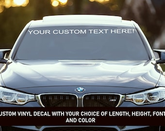 Custom Decal For Windshield 40 x 4 Instagram or Any Social Media Link Add your own Text or Facebook