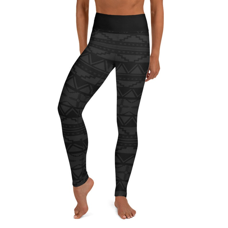 New Mexico Southwestern Women/'s Yoga Leggings Tribal Black Leggings, Zia Symbol Yoga Leggings Native American Yoga Pants