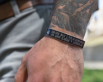 Memorial Military Style Bracelet, Military Style Remembrance Bracelet, Remembrance Bracelet, Memorial Wrist Band, Memorial Wrist Bracelet