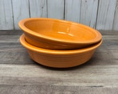 Pair of Fiesta Tangerine 7 quot Soup Cereal Bowls